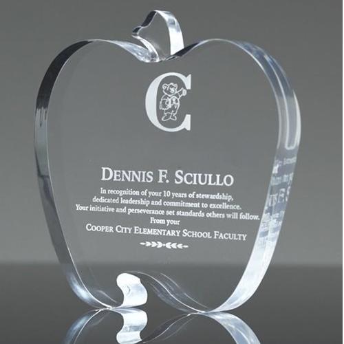 Laser engraved award