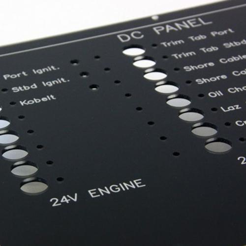 Laser engraved panel